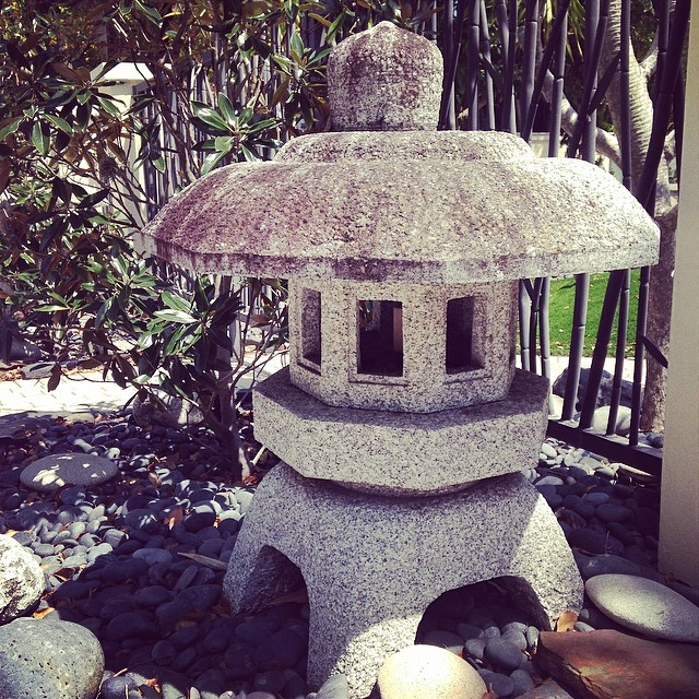 Granite Japanese lantern ... Call for pricing #Japaneselantern #lantern #bellasaquaticgardens #bellasponds there big 4 feet tall #forsale